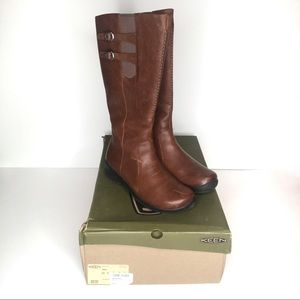 Keen Bern Baby wide calf knee high brown boot 9w